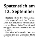 Spatenstich am 12. September